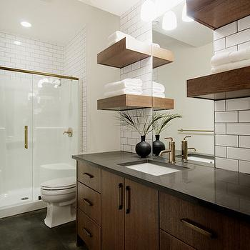 Chocolate Brown Cabinets, Contemporary, bathroom, Veranda Interiors