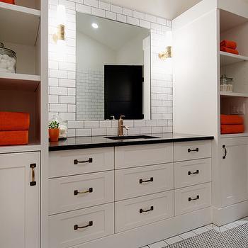 Built In Bathroom Cabinets, Contemporary, bathroom, Veranda Interiors