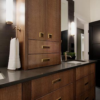 Charcoal gray bathroom cabinets design ideas for Charcoal grey bathroom accessories