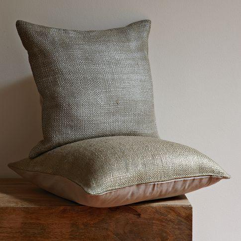 metallic brush pillow cover west elm