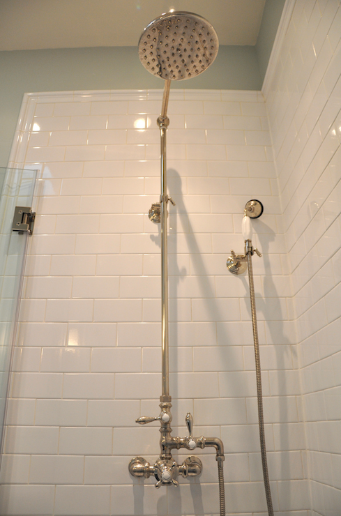 Vintage Style Outdoor Shower Kit Design Ideas