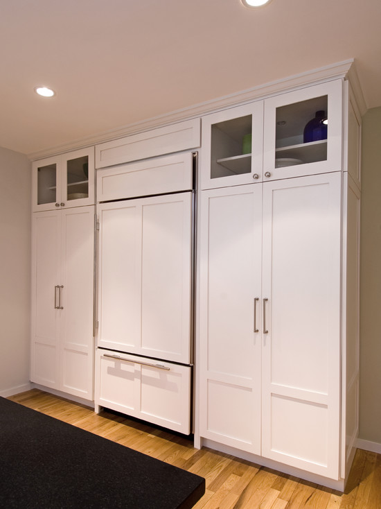 Wood Panel Fridge Design Ideas