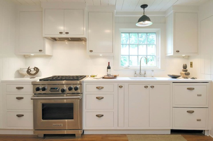 White Galley Kitchen Cottage Kitchen Hampton Design