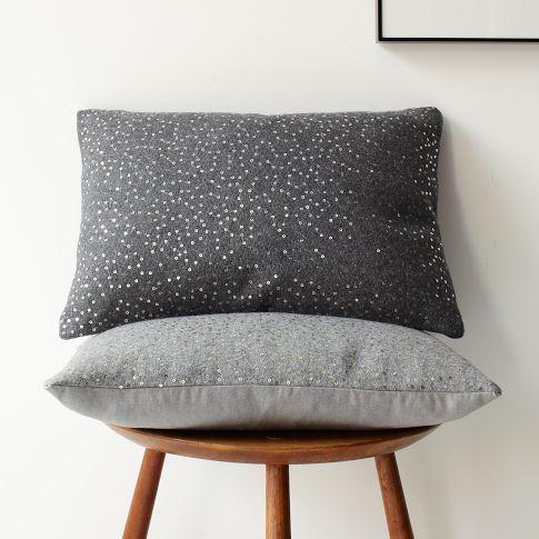 Sequins Felt Pillow Cover West Elm