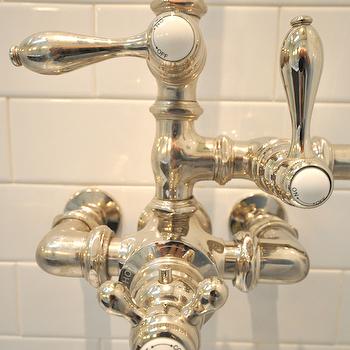 Vintage Shower Kit, Traditional, bathroom, Brooklyn Limestone