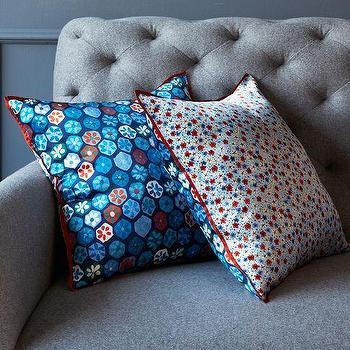sarah campbell garden path pillow cover west elm. Black Bedroom Furniture Sets. Home Design Ideas