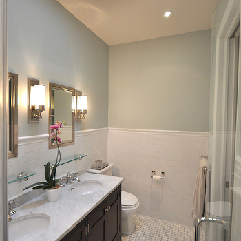 Bathroom Paint Colors, Traditional, bathroom, Benjamin Moore Quiet Moments, Brooklyn Limestone