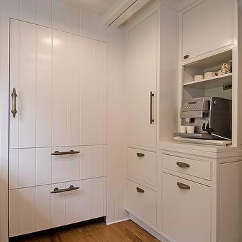 Wood Paneled Refrigerator, Cottage, kitchen, Hampton Design
