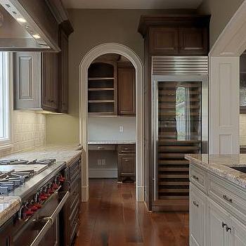 Glass Front Wine Cooler, Transitional, kitchen, Elizabeth Garrett Interiors
