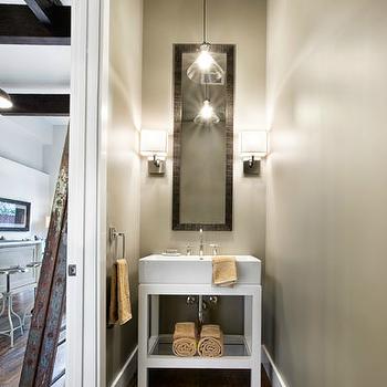 Restoration Hardware Washstand, Contemporary, bathroom, Sutro Architects