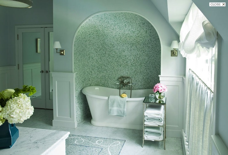 Bathtub Alcove - Transitional - bathroom - Courtney Hill Interiors