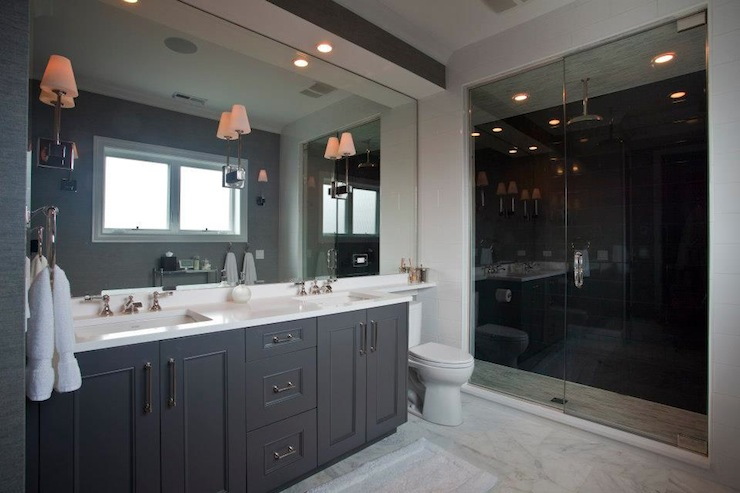 Gray Bathroom Cabinets Contemporary Bathroom Michael