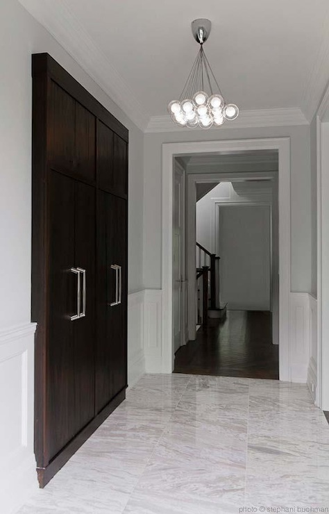 Modern Foyer Tile : Built in foyer cabinets modern entrance