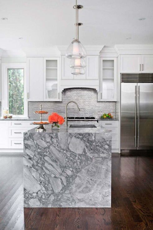 Marble Kitchen island - Contemporary - kitchen - Stephani Buchman