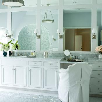 Drop Down Vanity, Transitional, bathroom, Courtney Hill Interiors