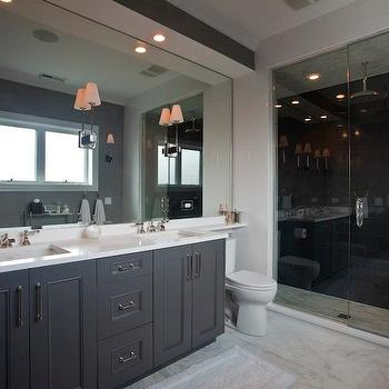 Gray Bathroom Cabinets, Contemporary, bathroom, Michael Abrams Limited
