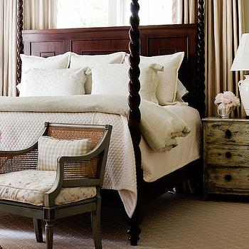 Gray Cane Chair, Traditional, bedroom, Courtney Hill Interiors