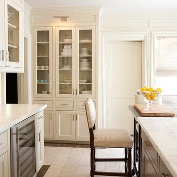 Glass Front Kitchen Cabinets, Contemporary, kitchen, Courtney Hill Interiors