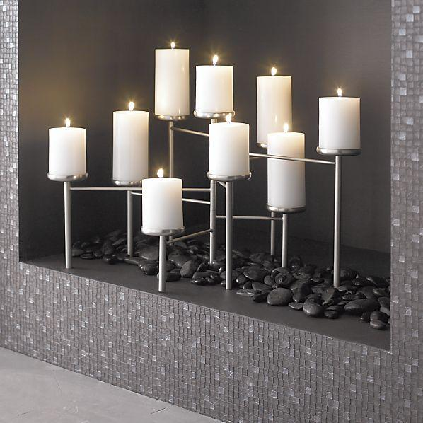Pewter Fireplace Candelabra Crate And Barrel