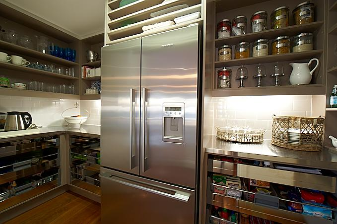 Open Shelf Pantry Storage: Open Kitchen Pantry Shelves Design Ideas