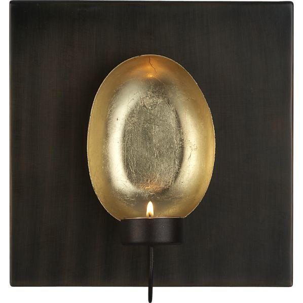 Circular Wall Sconce Candle Holder : Tuvala Wall Sconce - Crate and Barrel