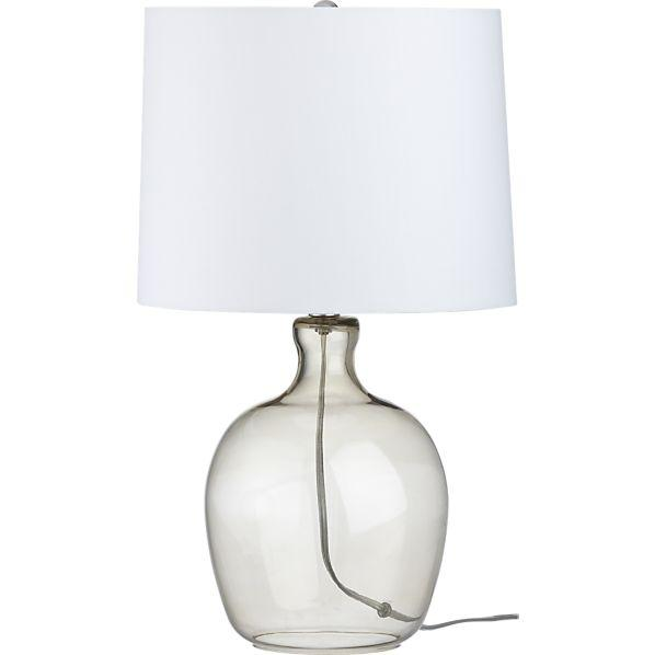 Clarity smoke table lamp crate and barrel