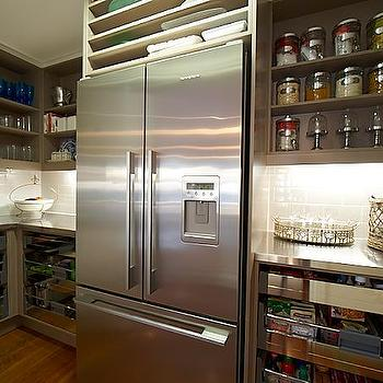 Taupe Kitchen Cabinets, Contemporary, kitchen, The House That AM Built