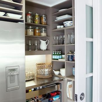 Frosted Pocket Door, Contemporary, kitchen, The House That AM Built