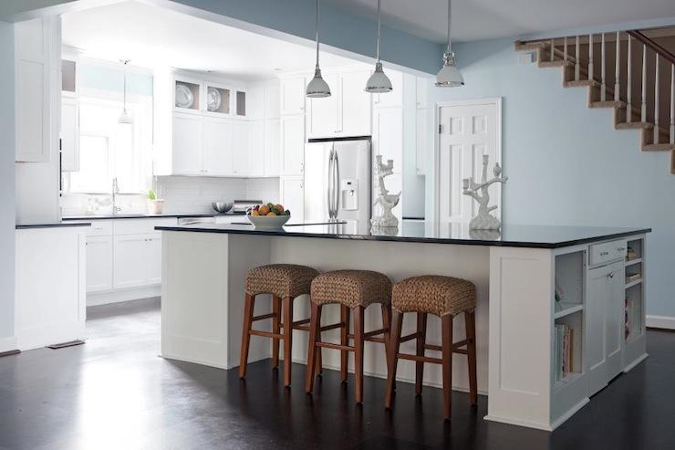 Seagrass Barstools Cottage Kitchen Beth Haley Design