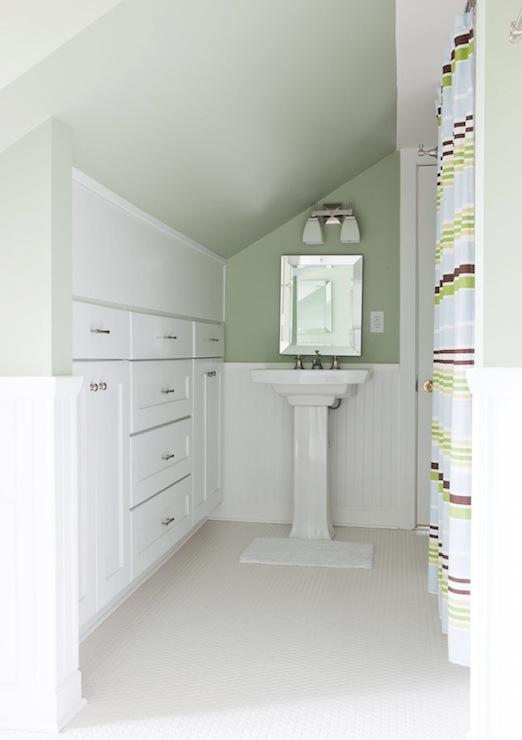 White Beadboard Bathroom Traditional Bathroom Beth