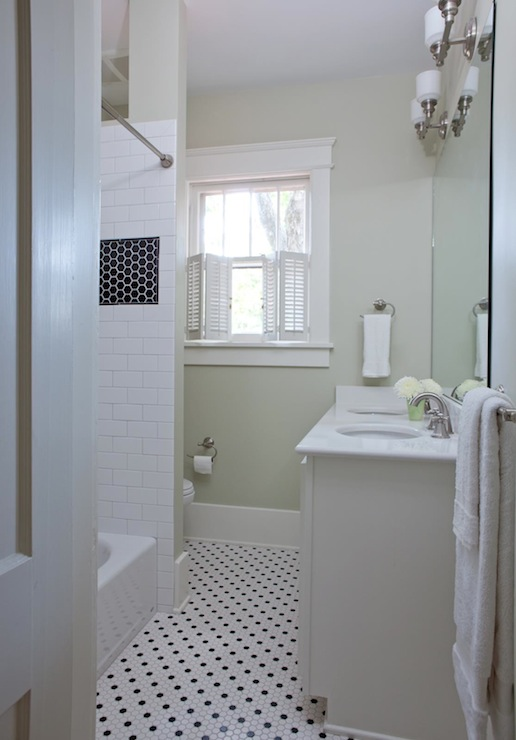 Vintage Hex Tile Traditional Bathroom Beth Haley Design