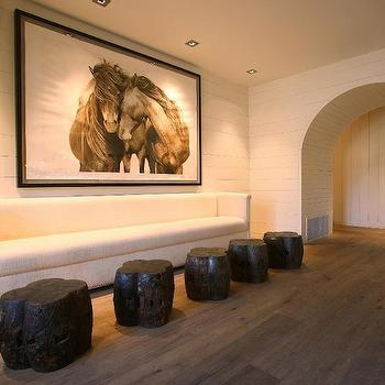 Horse Art, Country, living room, Driscoll Design Group