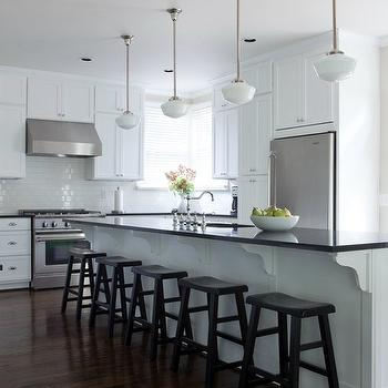Long KItchen Island, Traditional, kitchen, Beth Haley Design
