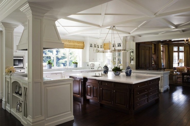 Oversized kitchen island traditional kitchen pacific - Island or peninsula kitchen ...