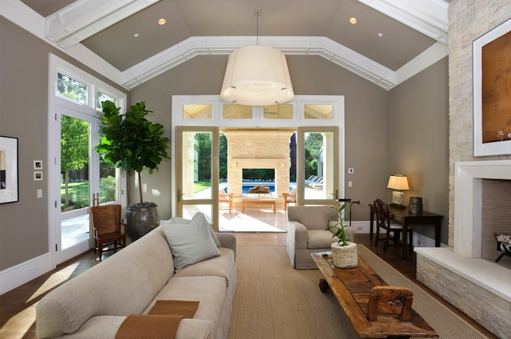 Monochromatic Living Room Contemporary Living Room Pacific Peninsula Group