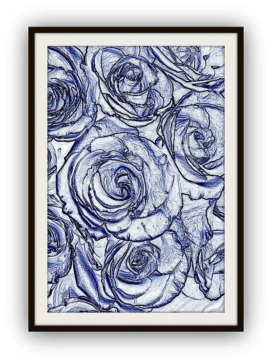 Large floral blueprints by 13westdesign etsy malvernweather Gallery