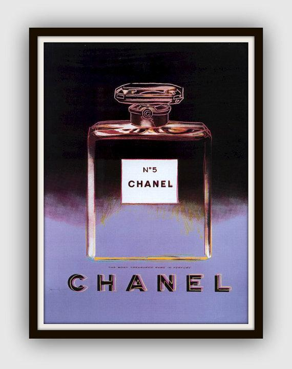 Andy Warhol Chanel Large Framed By 13westdesign Etsy