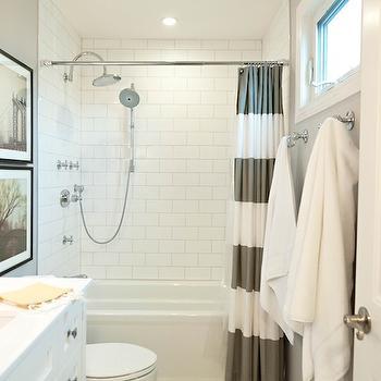 Subway Tile Shower, Contemporary, bathroom, Benjamin Moore Stonington Gray, Vanessa Francis Design