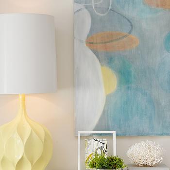Yellow Lamp, Contemporary, living room, Laura Martin Bovard Interiors