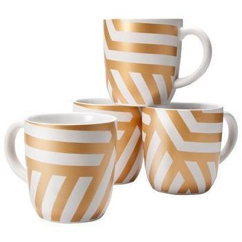Threshold Stoneware Decal Mugs with Gold Zig Za... : Target