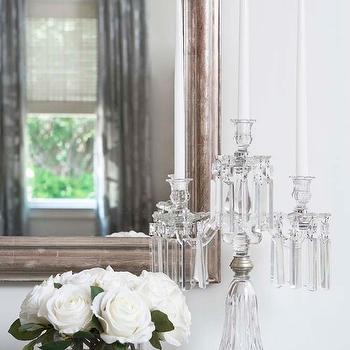 Crystal Candelabra, French, bedroom, Linda McDougald Design