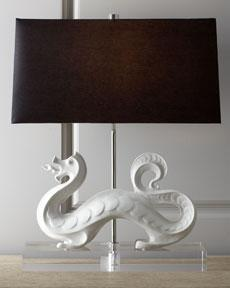 Jonathan alder white dragon table lamp horchow mozeypictures Gallery