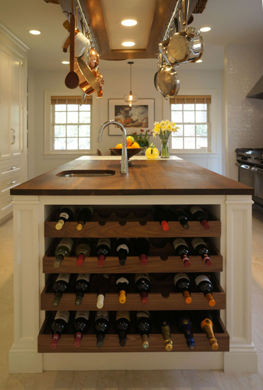 Kitchen Island Wine Rack Traditional Kitchen Bakes