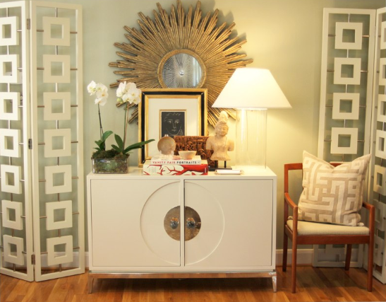 Jonathan Adler Channing Cabinet Contemporary Entrance