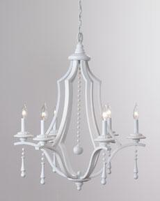 Contemporary white chandelier horchow aloadofball Images