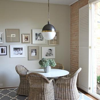Trellis Rug, Cottage, dining room, Kristen Nix Interiors