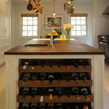 Kitchen Island Wine Rack, Traditional, kitchen, Bakes and Company