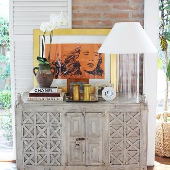 Antique Spanish Chest, Cottage, dining room, Kristen Nix Interiors