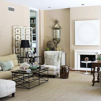Granite Top Coffee Table, Contemporary, living room, Kristen Nix Interiors