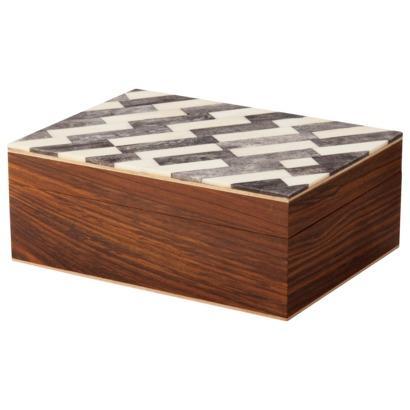 decorative storage box natebr bone black rectangle target view full size - Decorative Storage Box
